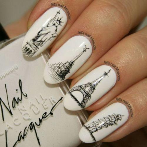 дизайн ногтей париж города