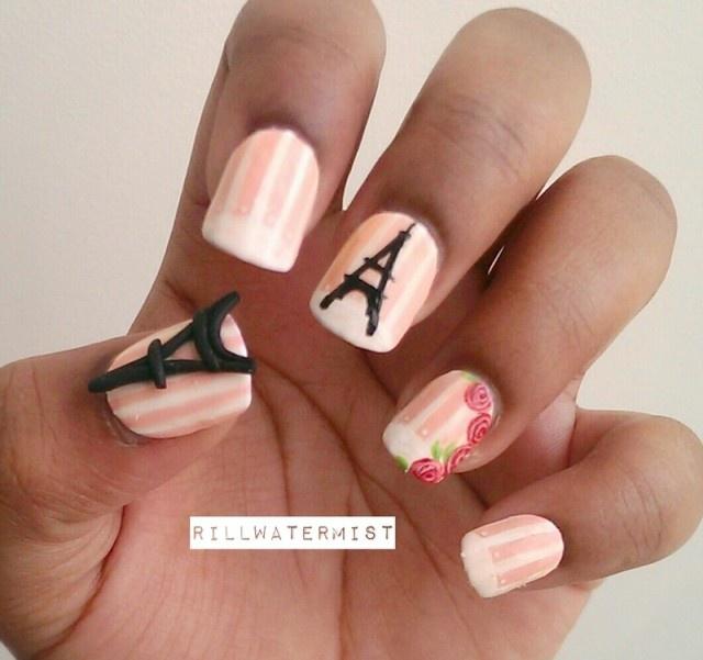 дизайн ногтей париж пастель