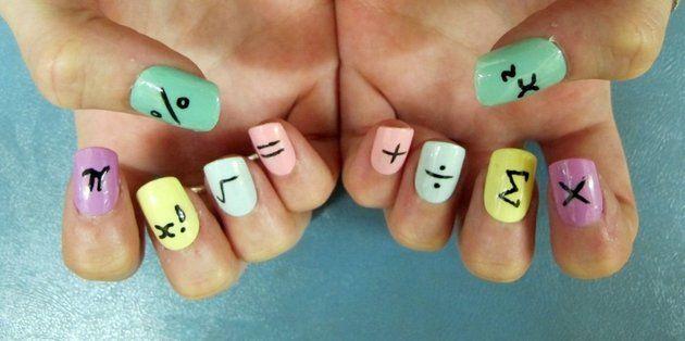 Маникюр на короткие ногти для школы в домашних условиях