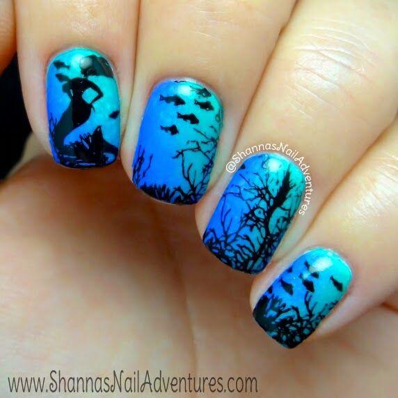 Дизайн русалка на ногтях