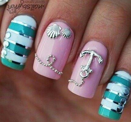 Ногти для моря дизайн
