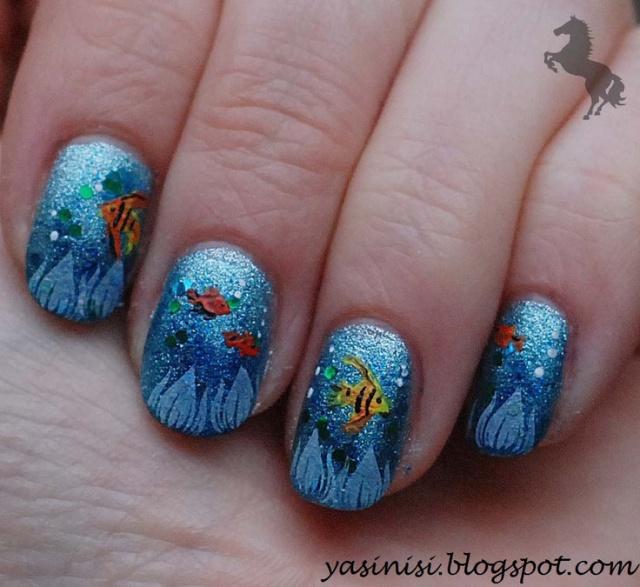 Дизайн морской ногти