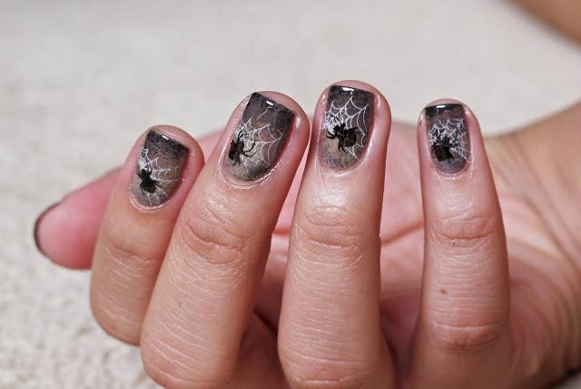 дизайн ногтей пауки  плетение Nail Design spiders
