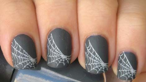 Паутина на ногтях фото пошагово для начинающих