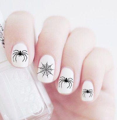 дизайн ногтей пауки  спускаются Nail Design spiders