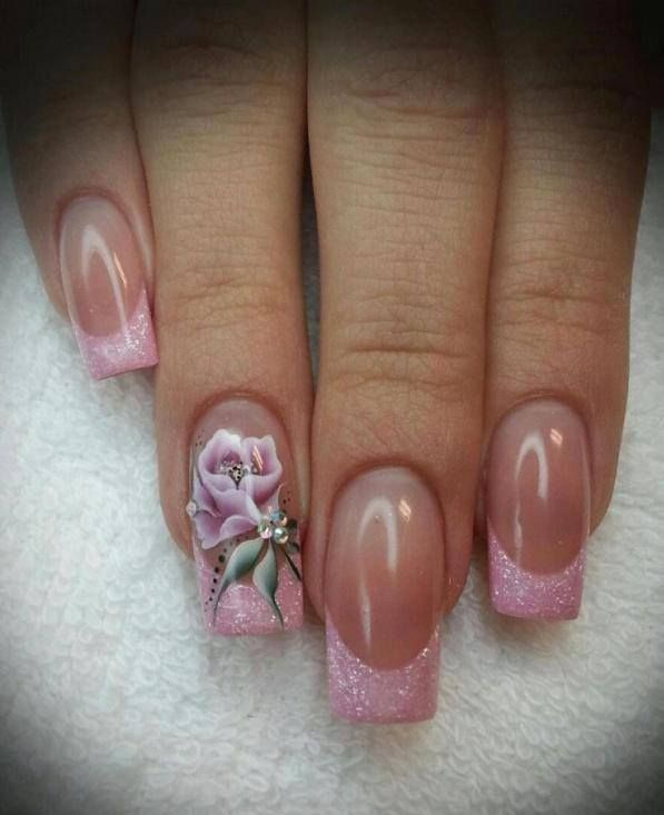 Дизайн ногтей нежный френч лето