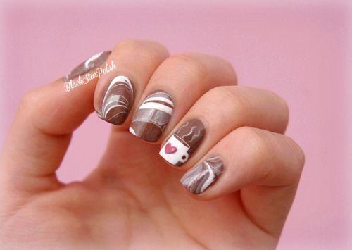 Шоколадка на ногтях рисунок
