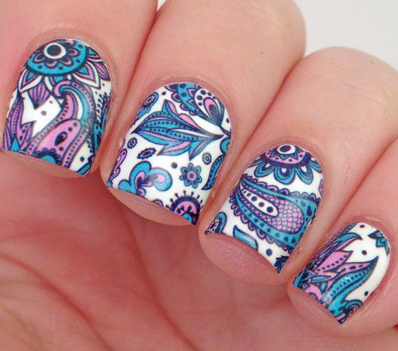 Дизайн ногтей орнамент фото