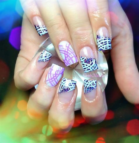 дизайн квадратных ногтей абстракция