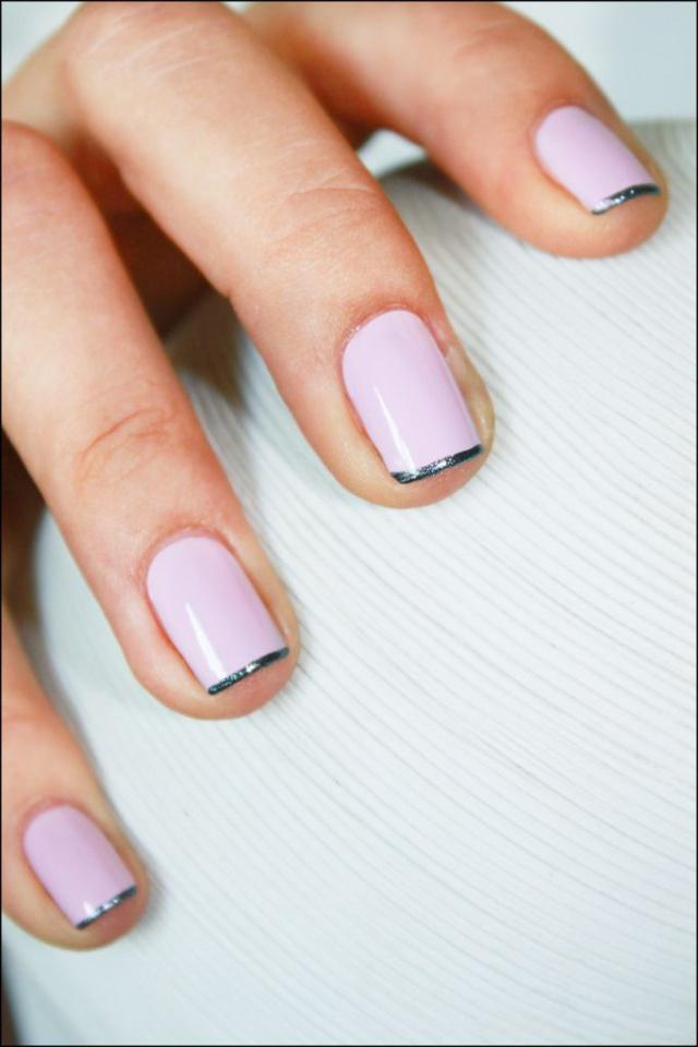 дизайн квадратных ногтей простой розовый