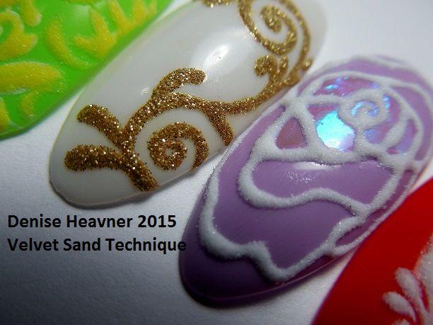 маникюр бархатный песок