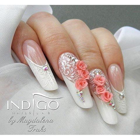 дизайн ногтей френч с рисунком 2017