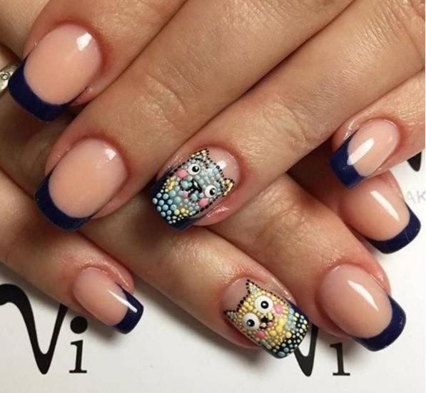 Дизайн ногтей дотсом цветы 74