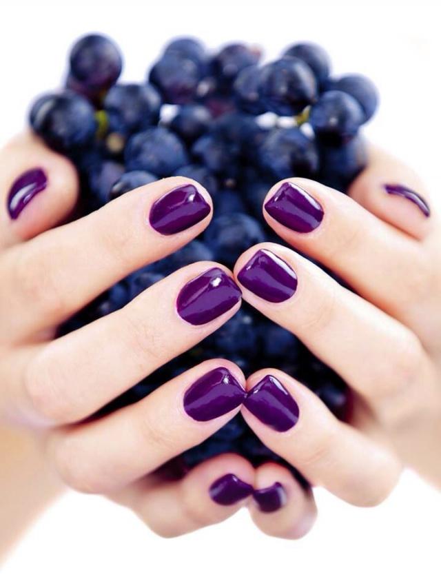 Ногти фиолетовые гель лак