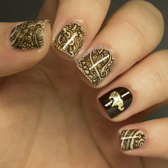 Кружево на ногтях (роспись акриловыми красками) Uroda