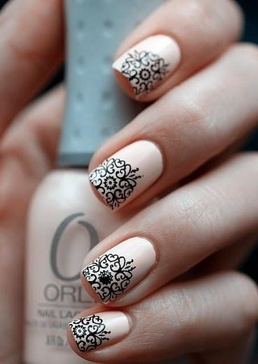 Рисунок на ногтях на лето с блестками