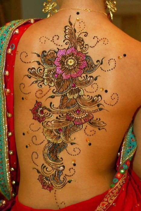 indian design индийский спина