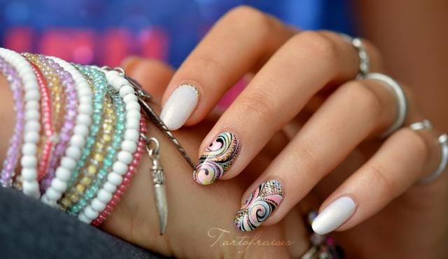 indian design nail индийский маникюр овальные