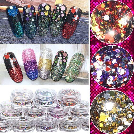 камифубуки, блестки, конфетти для дизайна ногтей