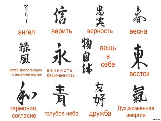 Бесплатные картинки с китайскими иероглифами 17