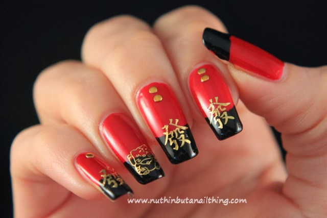 фото ногти с иероглифами