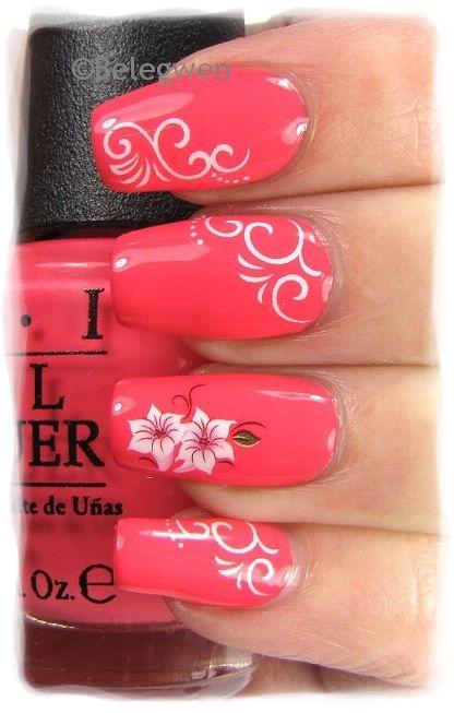 Фото красивых рисунков на ногтях коралловые 145