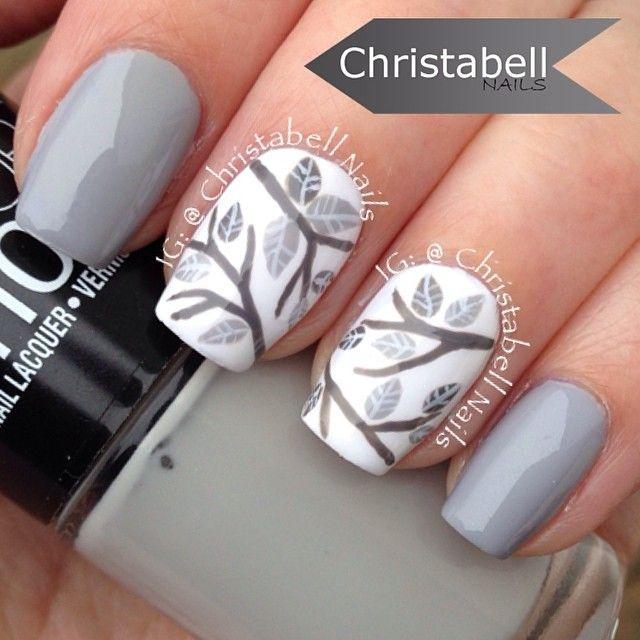 Серые ногти дизайн фото