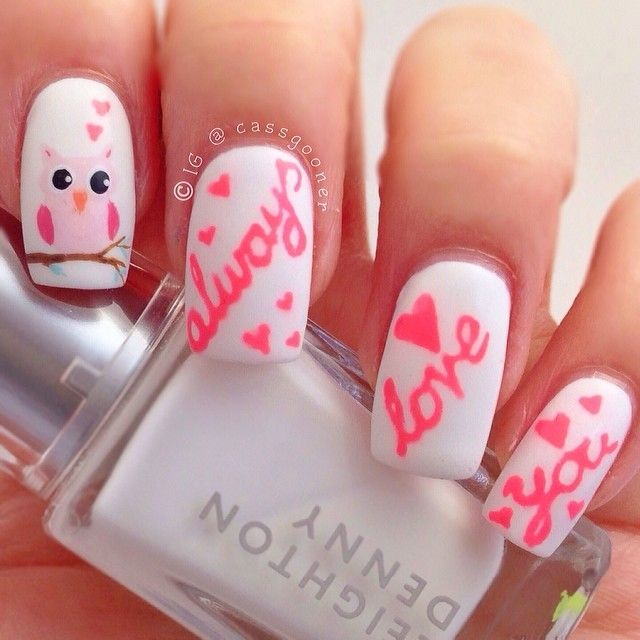 Ногти дизайн к 14 февраля