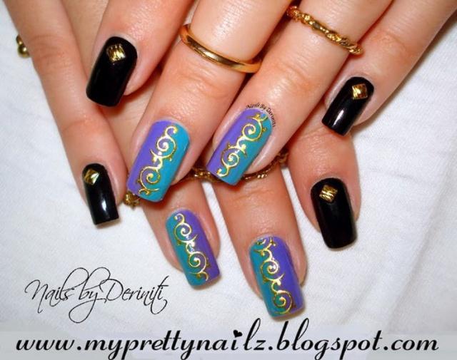 Объемный рисунок на ногтях