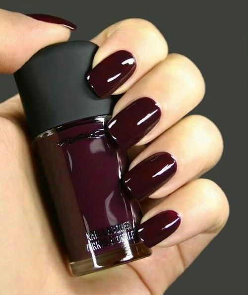 дизайн ногтей цвета бордо эталон