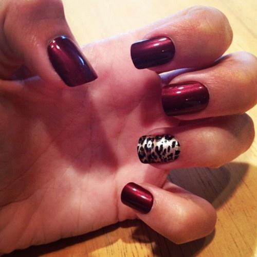 дизайн ногтей цвета бордо гель лак