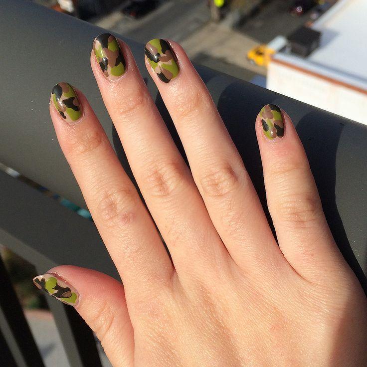 военный маникюр цвета хаки military manicure