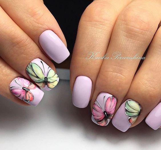 Ногти дизайн бабочки