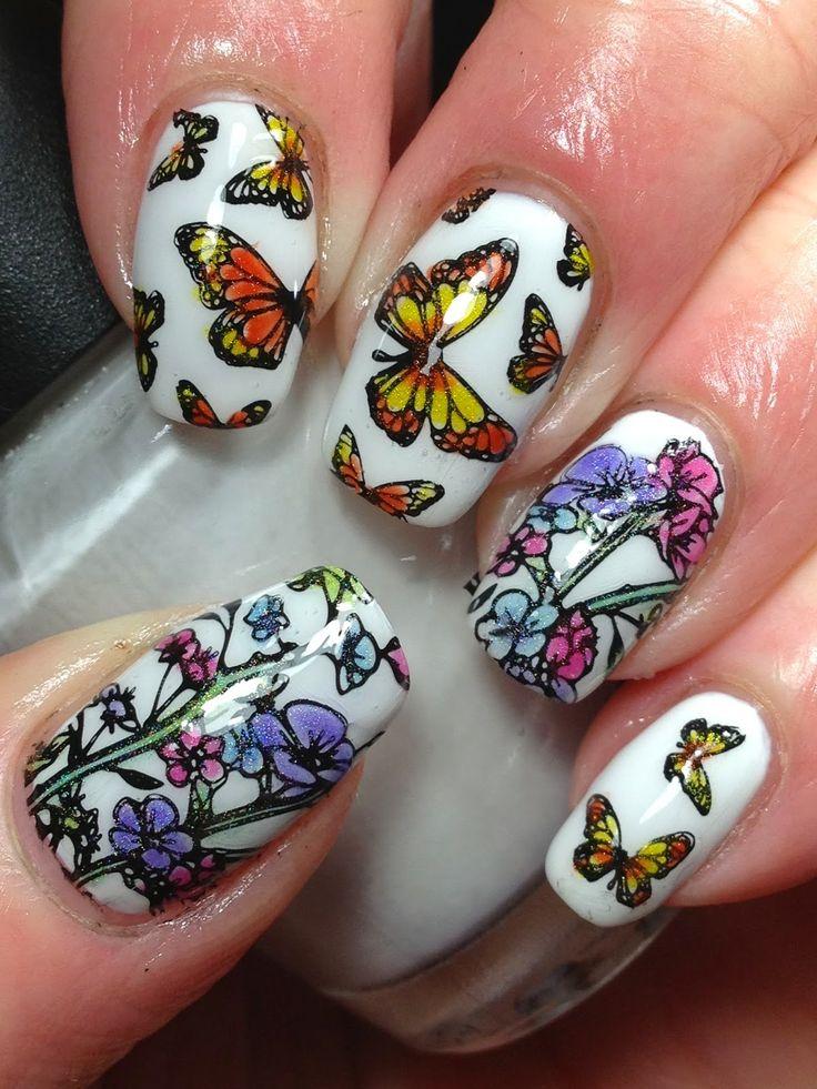 Маникюр бабочка картинки