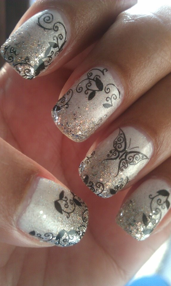 Маникюр бабочка на ногтях