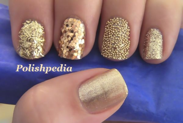 глиттер дизайн блёстками шарики блёстки beautiful nail design glitter