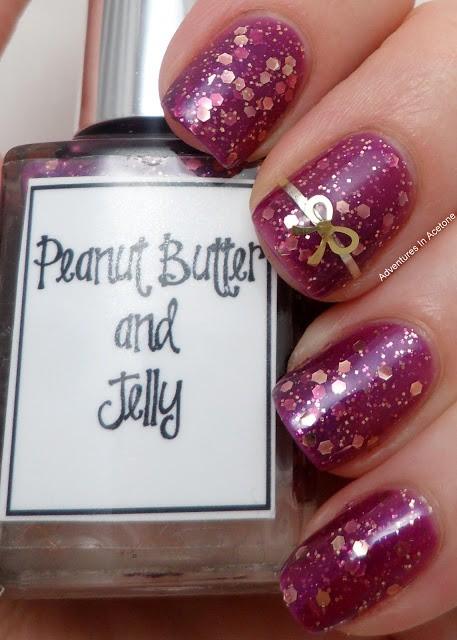 глиттер дизайн блёстками бантик розовый beautiful nail design glitter