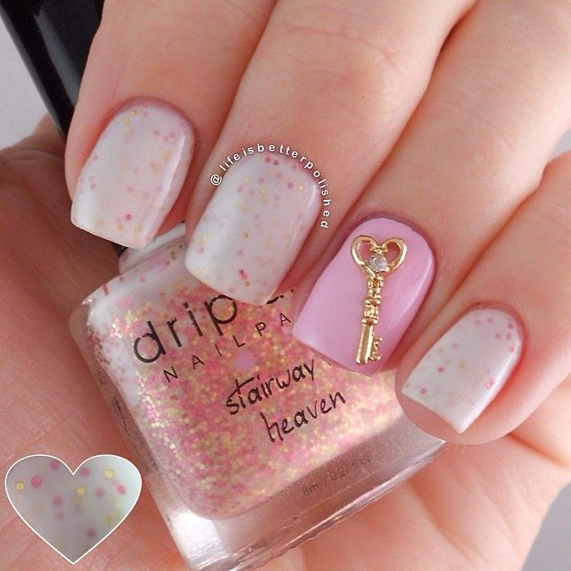 Фото дизайн ногтей блёстками