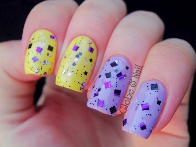 глиттер дизайн блёстками квадратные блёстки beautiful nail design glitter