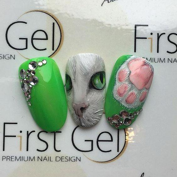 Nail designs with rhinestones дизайн ногтей со стразами