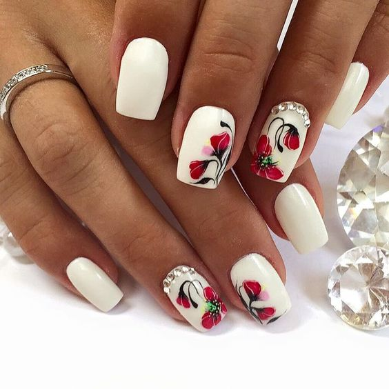 Бархатный песок для ногтей дизайн на короткие ногти 43
