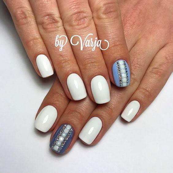 Бархатный песок для ногтей дизайн на короткие ногти 54