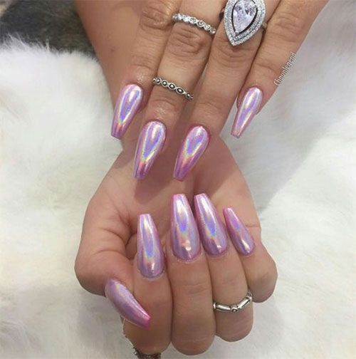 nails design holographic powder pigment