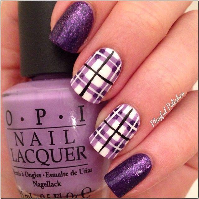маникюр фиолетового цвета