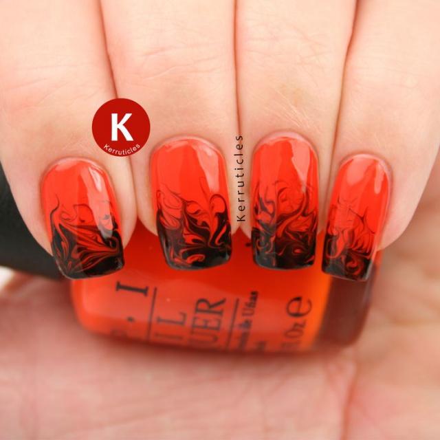 Красно черный дизайн ногтей фото