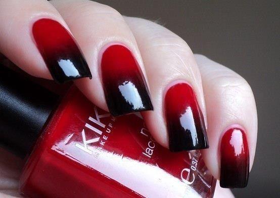 Красно черные ногти дизайн фото