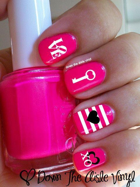 дизайн красных ногтей любовь ключик к сердцу red nail design trends