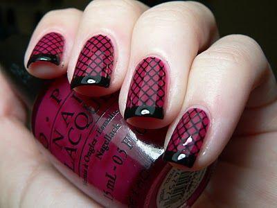 Ногти дизайн с красным френчем