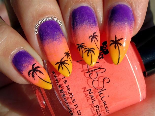 Фото ногтей с пальмами фото