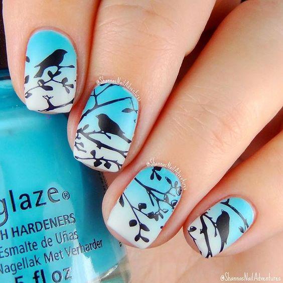 Дизайн ногтей птицы